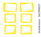 blank picture frame set on... | Shutterstock .eps vector #361598327