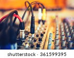 audio jack and wires connected...   Shutterstock . vector #361599395