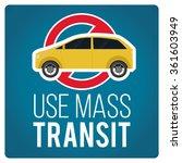 use mass transit illustration... | Shutterstock .eps vector #361603949