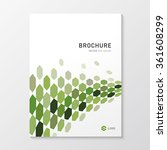 brochure design with hexagon... | Shutterstock .eps vector #361608299