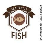 sea food fish design  | Shutterstock .eps vector #361610525