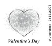 Silver Heart In Gift On...