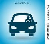 driver vector icon | Shutterstock .eps vector #361623719