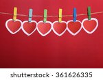 love valentine's hearts and... | Shutterstock . vector #361626335