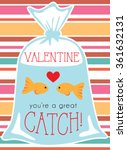 two goldfish in bag valentine...
