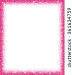 Pink Glitter Frame With...