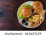 Fresh Homemade Burger With...