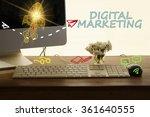 digital marketing concept in... | Shutterstock . vector #361640555