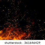 fire flames with sparks on a... | Shutterstock . vector #361646429