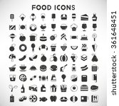 food and drinks icons set | Shutterstock .eps vector #361648451