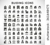 Building Icons Set  Real Estat...