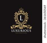 luxurious logo template. | Shutterstock .eps vector #361650569