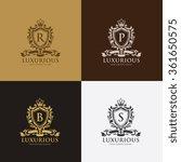 luxury crests logo template | Shutterstock .eps vector #361650575
