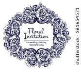 vintage delicate invitation... | Shutterstock .eps vector #361654571