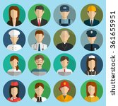 professions vector flat icons.... | Shutterstock .eps vector #361655951