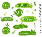 set of logos  stamps  badges ... | Shutterstock .eps vector #361656359