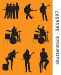 vector musicians | Shutterstock .eps vector #3616597