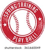 spring training baseball sport... | Shutterstock .eps vector #361660049