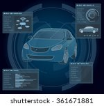 automobile abstract interface ... | Shutterstock .eps vector #361671881