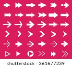 vector arrows set.set of arrow... | Shutterstock .eps vector #361677239