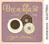 vintage breakfast poster.... | Shutterstock .eps vector #361679861