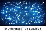 blue flashing discotheque... | Shutterstock . vector #361683515