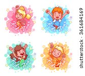 "set of four banners ""kids zone"" ... 