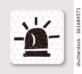 warning light doodle | Shutterstock .eps vector #361684571