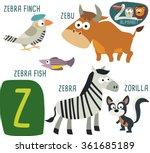 cute zoo alphabet in vector. z... | Shutterstock .eps vector #361685189