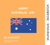 australia day national flag... | Shutterstock .eps vector #361686524