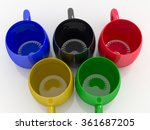 Colorful Coffee Mugs In The...