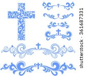 cross isolated on white... | Shutterstock . vector #361687331