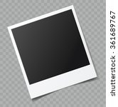 Vector Blank Photo Frame With...