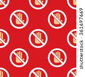 no entry hand icon pattern.... | Shutterstock . vector #361697669