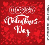 happy valentine's day. hand... | Shutterstock .eps vector #361698827