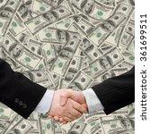 busines man handshake with... | Shutterstock . vector #361699511