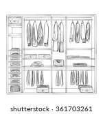 hand drawn wardrobe sketch | Shutterstock .eps vector #361703261