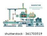 industrial abstract machine in... | Shutterstock . vector #361703519