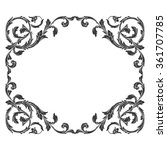 vintage baroque frame scroll... | Shutterstock . vector #361707785
