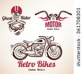 motorbikes emblems and labels... | Shutterstock .eps vector #361708301