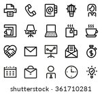 office line icon set. pixel... | Shutterstock .eps vector #361710281