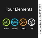 vector four natural elements... | Shutterstock .eps vector #361711025