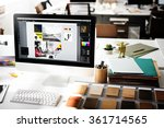 design studio creativity ideas... | Shutterstock . vector #361714565