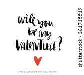 will you be my valentine.... | Shutterstock .eps vector #361715519