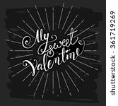 happy valentine's day lettering ... | Shutterstock .eps vector #361719269