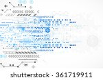 abstract technological... | Shutterstock .eps vector #361719911
