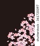 spring cherry blossom background | Shutterstock .eps vector #361720397