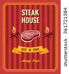 vintage steak poster template | Shutterstock . vector #361721384