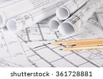 the projects of houses as a... | Shutterstock . vector #361728881