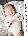 3 month old baby lying down... | Shutterstock . vector #361730879